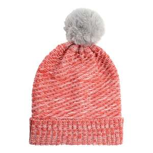 Superdrug Sweet Snuggles Grey Pom Pom Red & White Beanie Hat £2