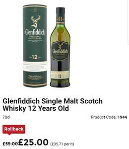 Glenfiddich 12yo + tumblers £25 at Asda