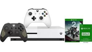 Xbox One S 500GB + 2 Controllers (1 Regular + 1 Recon Tech