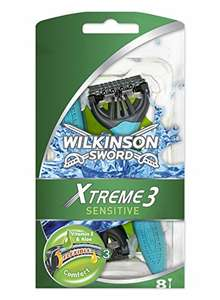 Wilkinson Sword Xtreme 3 Sensitive Men's Disposable Razors x8 £4.62 Amazon S&S