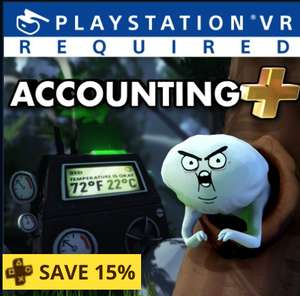 [PS VR] Accounting Plus. 15% discount for PS+ owners @ PSN