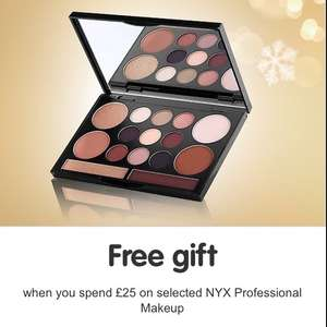 NYX Free Gift (Worth £20) When You Spend £25 on NYX @ Boots