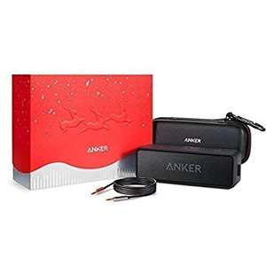 Anker soundcore 2 Christmas edition with case and 3.5m aux cable, Bluetooth speaker £45.99 Sold by AnkerDirect and Fulfilled by Amazon with voucher code XMASXXXX