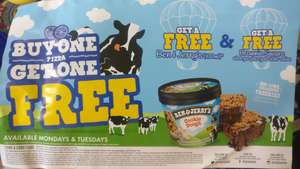 Free ben & Jerry and brownie square Pizza GoGo with min £11.99 order @ Pizzagogo