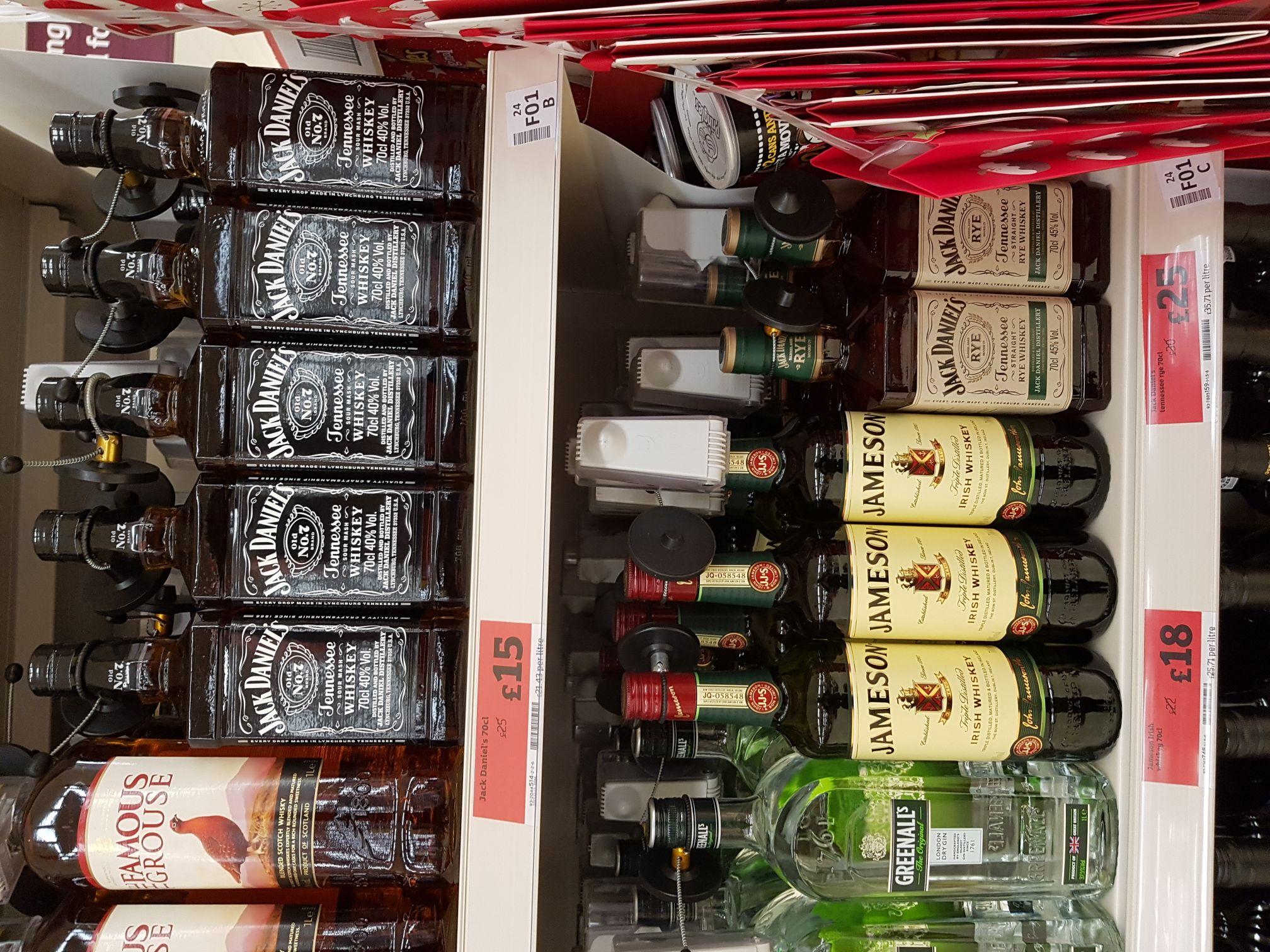 Jack Daniels 70cl  £15 @ Sainsbury's