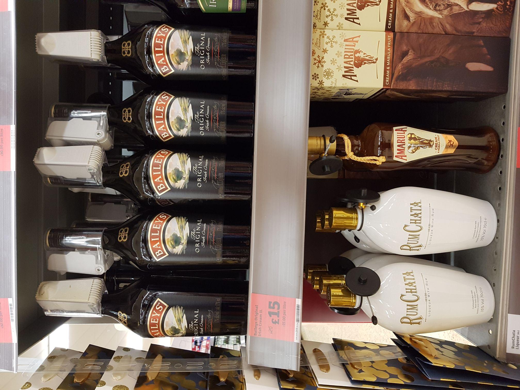 Baileys Original Irish Cream Liqueur 1L - £15 at Sainsburys