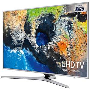 "Samsung UE40MU6400 HDR 4K Ultra HD Smart TV, 40"" with TVPlus/Freesat HD & Active Crystal Colour, Silver £389 at  John Lewis"