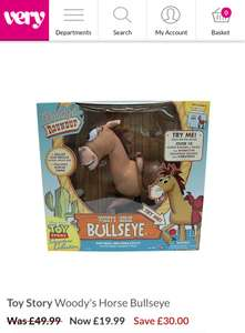 Toy story Bullseye £19.99 + £3.99 p&p @ Very