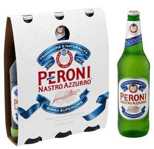 Peroni Nastro Azzurro 330ml under 81p per bottle with £20 off code with £60 spend from MajesticWines + 3 FREE bottles of Wine C&C