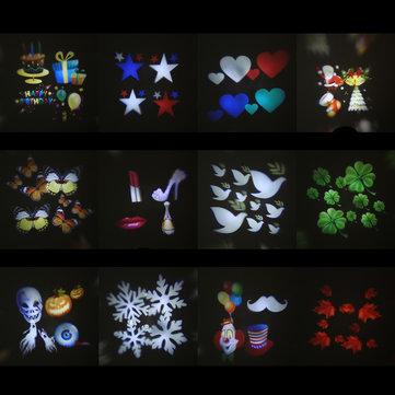 12 Types Christmas Film Pattern for LED Moving Laser Projector Landscape Stage Light £1.22 - Note @ BangGood