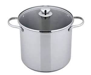 Stainless-steel Stock Pot - 11L (Was £25.00) Now £15.00 @ Asda George