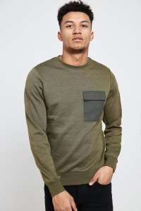 Mens Green Crew Neck Sweater (size M) - £11 delivered next day @ Brand Attic