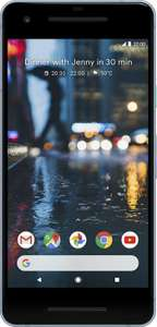 Google Pixel 2 64GB Blue or White / EE / Unltd mins / texts / 5gb / £27.99 pm / £15 up front with code - mobiles.co.uk