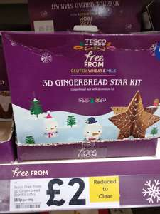Free From Christmas baking kits and chocolate half price instore £2 @ Tesco