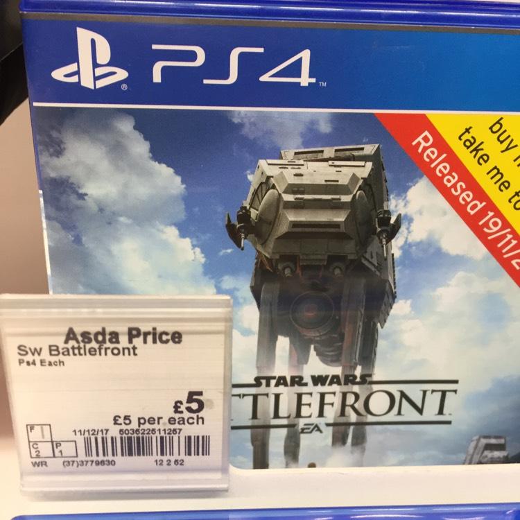 Star Wars Battlefront PS4 £5 @ Asda instore