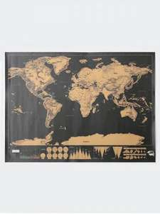 Travel World Map Wall Poster / Sticker (Scratch off countries you've visited) £3.77 delivered w/code @Rosegal