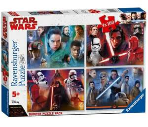 £9 only for Star Wars - 4 x 100Pc Jigsaw Puzzle Bumper Pack £9 @ Debenhams - £2 c&c