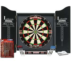 Winmau Lakeside World Championship Set (Blade 5 dartboard + 2 sets of darts + cabinet) £37.99 @ Argos