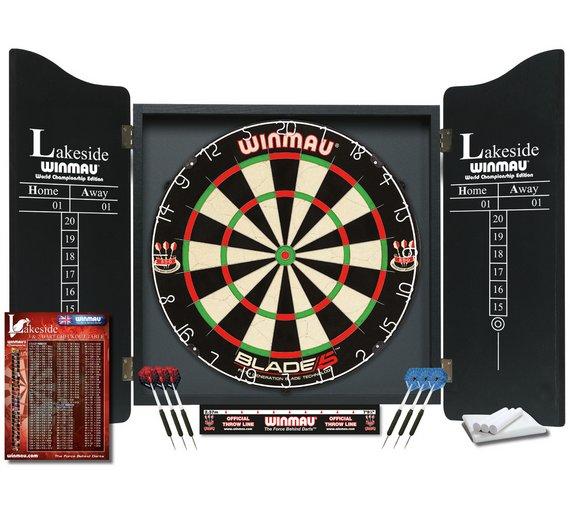 Winmau Lakeside World Championship Set (Blade 5 dartboard + 2 sets of darts + cabinet) £37.99 @ Argos