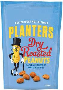 Planters Dry Roasted or Lightly Salted Peanuts (270g) ONLY £1.00 @ Morrisons