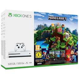 XBOX ONE S 500GB Minecraft Bundle + Forza 7 + Overwatch + 3 months Xbox Live Gold + 2 months NOW TV £189.99 @ GAME