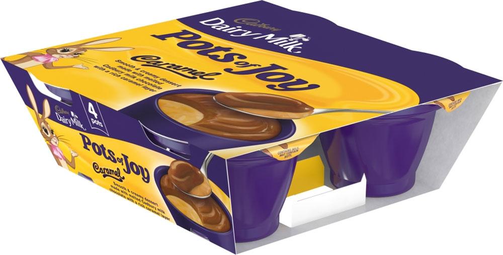 Cadbury Pots of Joy Dairy Milk Desserts / Cadbury Pots of Joy Caramel Desserts / Cadbury Limited Edition Pots of Joy (Snowy Delight) / Cadbury Pots of Joy White Chocolate Desserts (4 x 70g) was £2.00 now £1.00 @ Asda