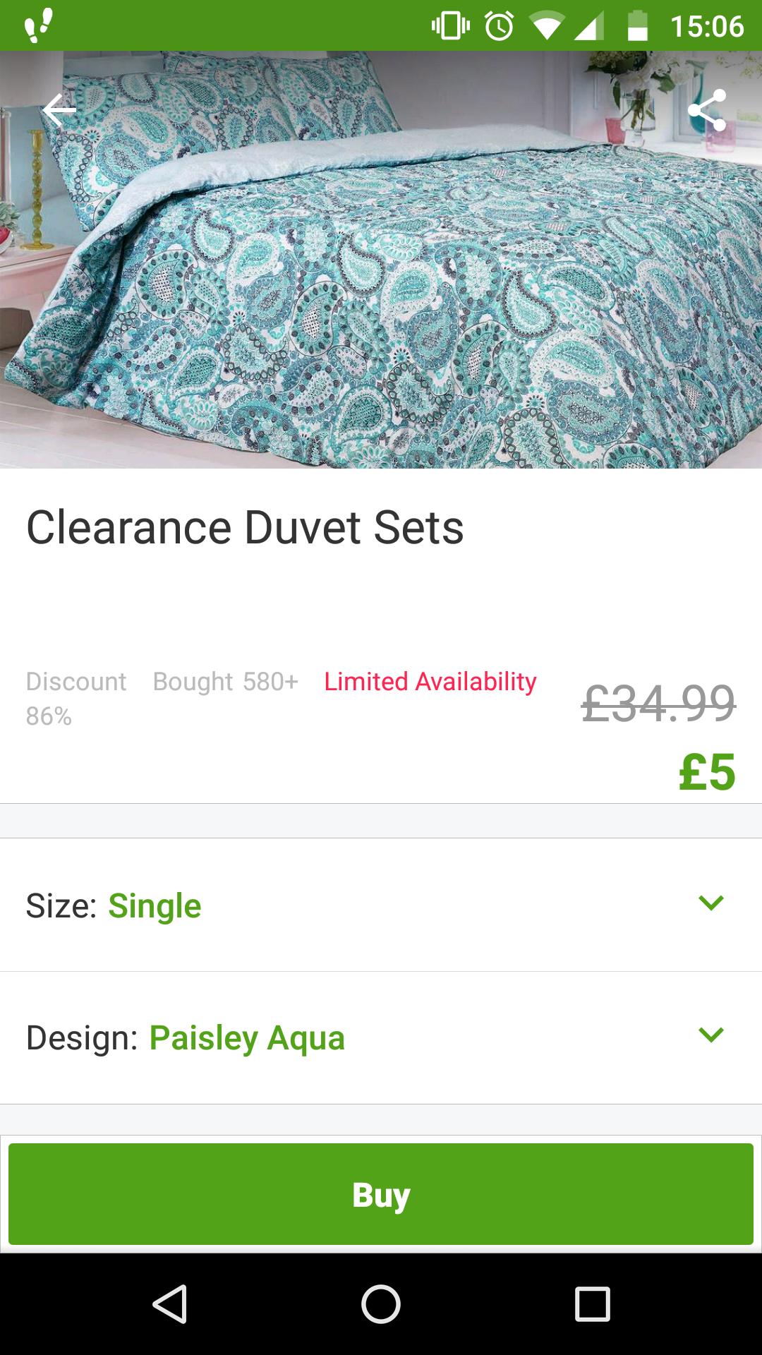 £5 bedding (single) / £6.49 delivered @ Groupon