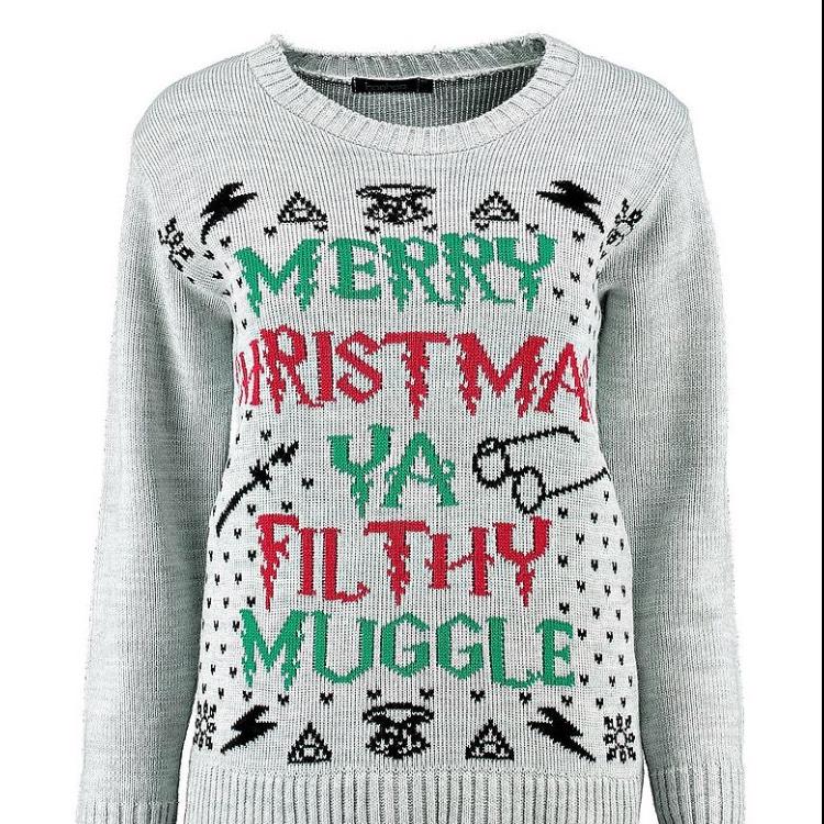 Merry Christmas Ya Filthy Muggle Jumper @ Boohoo
