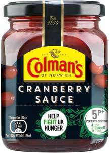 Colman's Cranberry Sauce (165g) was £1.20 now Only 85p: Save 35p @ Sainsbury's and Tesco