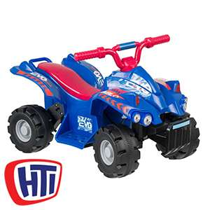 Evo 6V Battery Operated Ride On Quad (Blue/Red) £39.99 @ Home bargains