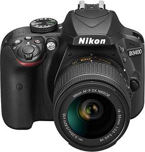 Nikon D3400 + AF-P 18-55VR Digital SLR Camera & Lens Kit - Black £299 @ Amazon