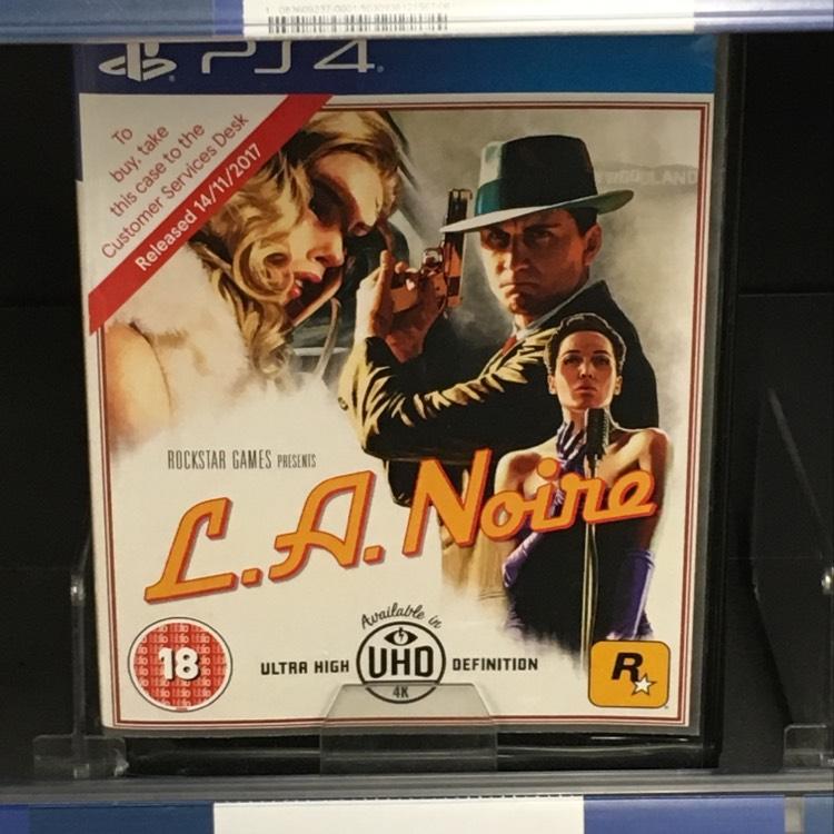 LA Noire PS4/XB1 £22 @Tesco