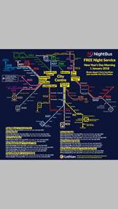 Free Lothian Edinburgh night busses on Hogmanay (New Year Eve)