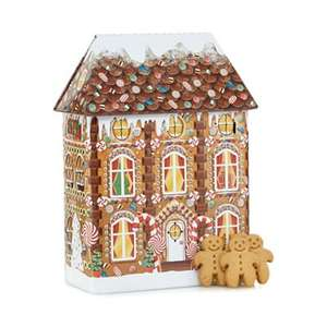 Gingerbread House themed tin which sings tunes and contains GINGERBREAD biscuits - DEBENHAMS - £9 (Plus £3.49 P&P or FREE CLICK & COLLECT)