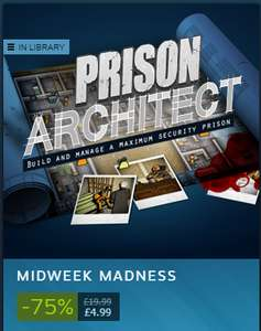 Prison Architect - Midweek Madness- £4.99 on Steam