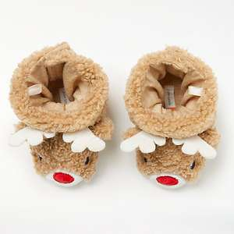 John Lewis Baby Reindeer Booties half price - £5 (+£2 C&C)