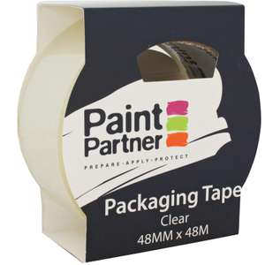 Paint Partner Packaging Tape - Clear - 48mm x 48m - 10p @ Homebase