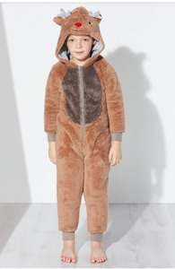 John Lewis Children's Reindeer Fleece Onesie, Brown - £15 (C&C)