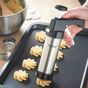 £10 off Vonshef Cookie Press/Icing Gun Set on Amazon (Sold and Despatched by DOMU UK) - £19.99 Prime down from from £29.99