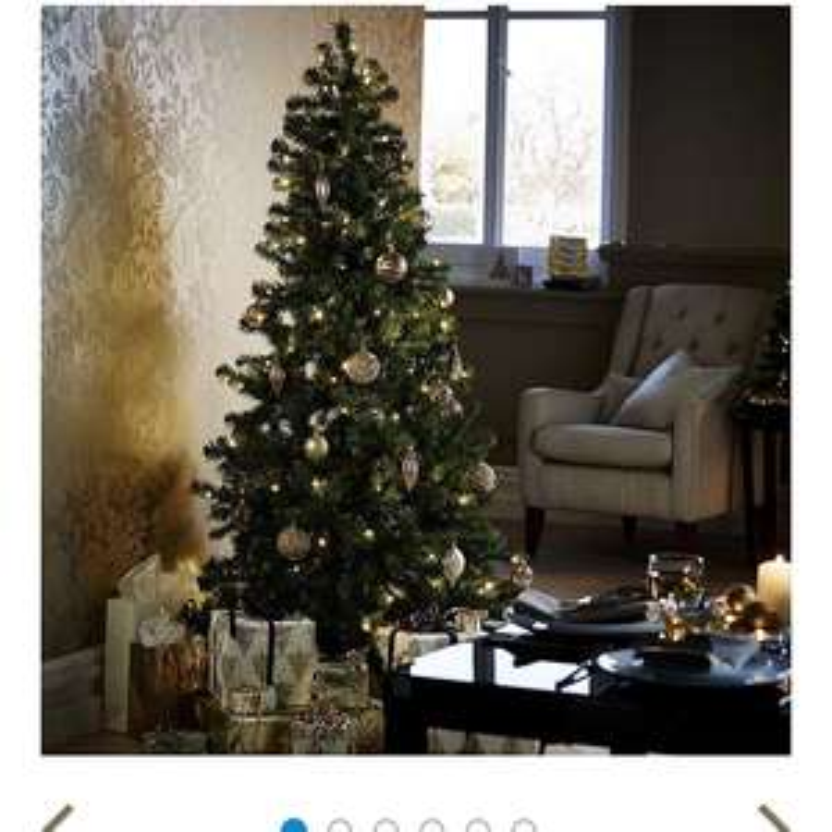 6ft Pre-lit Evergreen Christmas Tree (150 warm white LEDs) ONLY £17.50 @ Tesco