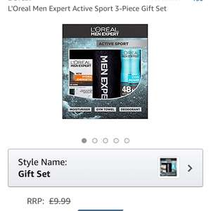 L'Oreal Men Expert Active Sport 3-Piece Gift Set £3.75 Add On @ Amazon