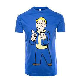 Fallout 4 Vault Boy Shooting Fingers T-Shirt SIZE Small 50p Preorder? @ GAME