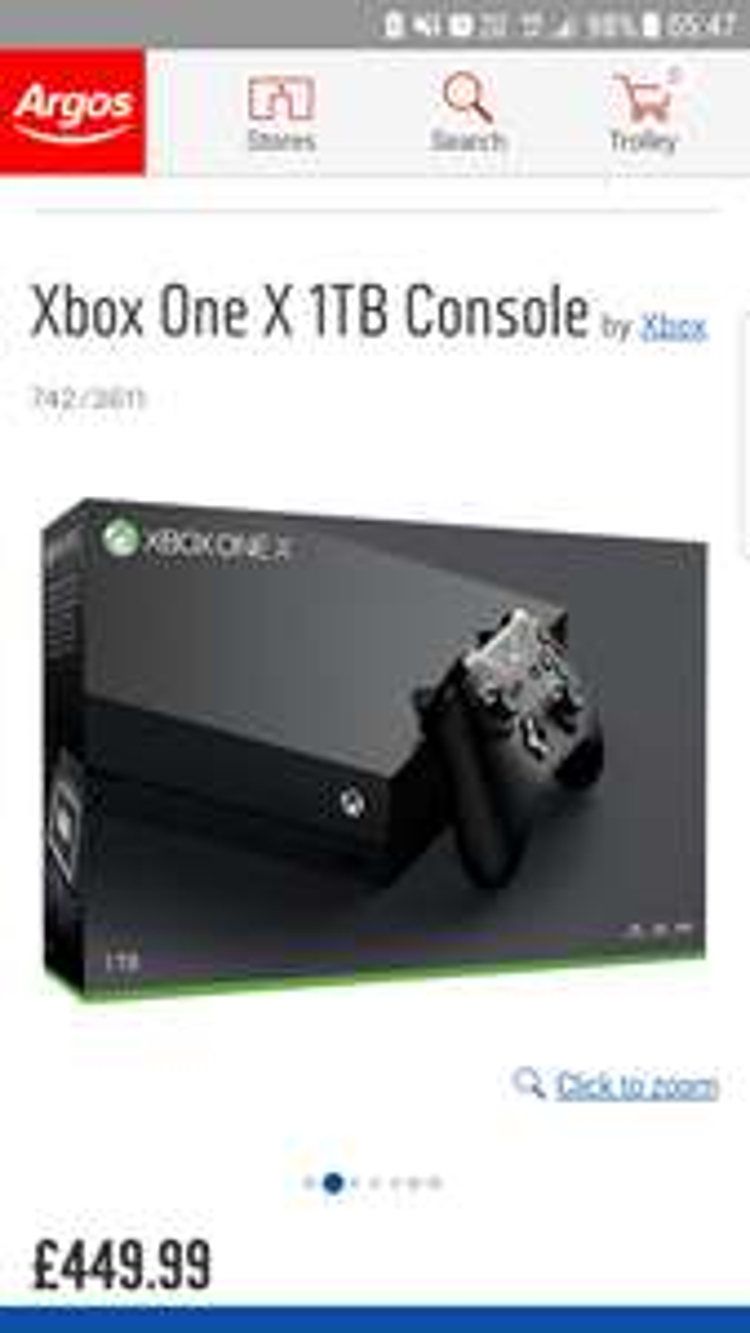 Xbox one x  + Pubg + Forza 7 Plus an extra controller £479.99 - Argos
