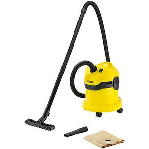 Kärcher WD2 Wet and Dry Vacuum Cleaner + 2 Year Guarantee = £20 (plus £3.50 delivery) @ John Lewis