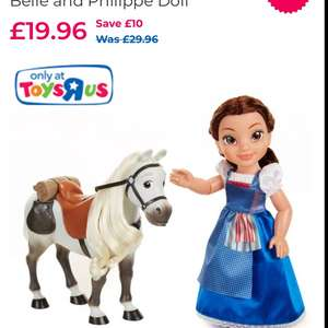 Disney Beauty and the Beast Belle and Philippe Doll £19.96 C+C @ Toys R Us