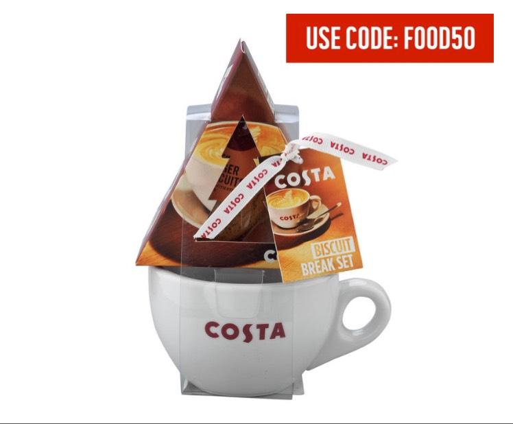 Costa Festive Mug & Biscuit Set £4.99 using FOOD50 at Argos