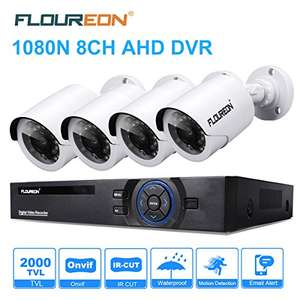 FLOUREON CCTV Security Camera System Outdoor Bullet Cameras £69.99 Sold by ZLYUK and Fulfilled by Amazon.