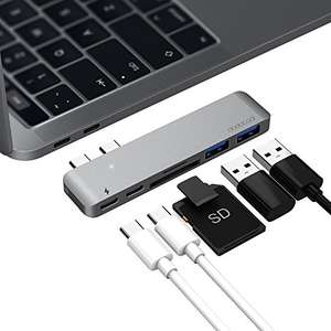 dodocool  Aluminum Alloy Dual USB-C Hub Multiport Adapter with Thunderbolt £25.99 Sold by aoputek and Fulfilled by Amazon