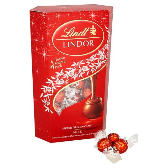 Lindt Lindor Festive Sharing Pack Milk 600G £10 @ Tesco