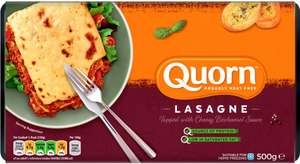Quorn Classic Lasagne 500g (Serves 2)​ was £3.20 now £2.00 @ Sainsbury's